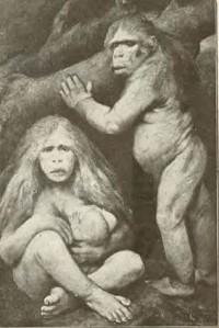 a Caveman family (BreastfeedingArt)