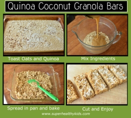 superhealthykidsQuinoa Coconut Bars steps copy